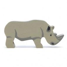 Animal en bois Rhinocéros