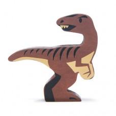 Animal en bois Vélociraptor