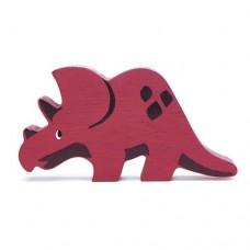 Animal en bois Tricératops