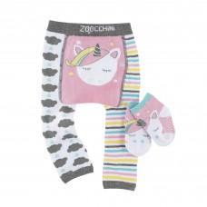 Leggings et chaussettes antidérapantes Licorne 12-18mois